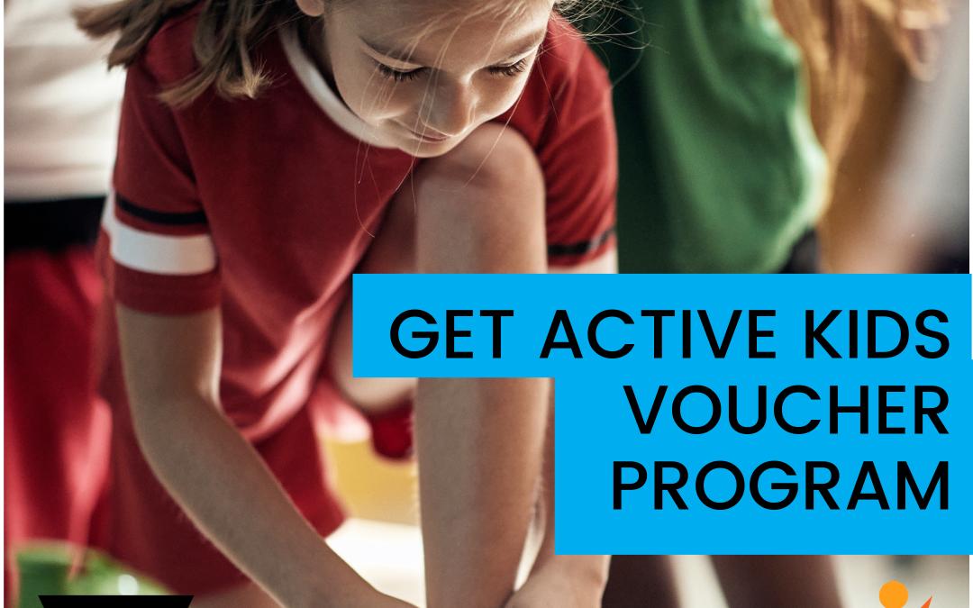 Get Active Kids Voucher Program Round 3 open!